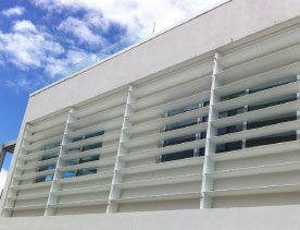 Powder Coated Aluminium Sunscreens And Louvres Aluline
